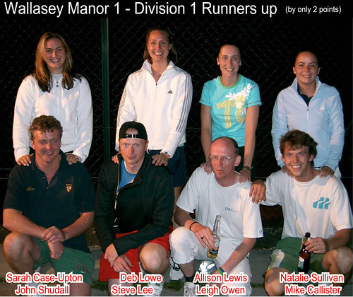 WTL2005 Division1 RunnersUp WallseyManor1
