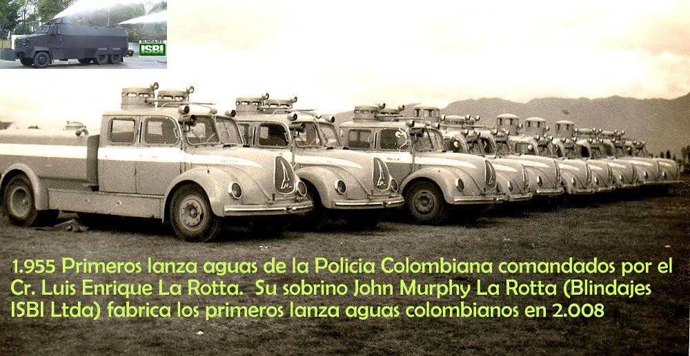 Coronel Enriqu: Lanzaguas 1955 Cr. Coronel Luis Enrique La Rotta Tanquetas