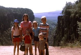 Family 1973 at Ouimet Canyon