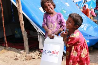 Providing hygiene kits to families as they return home
