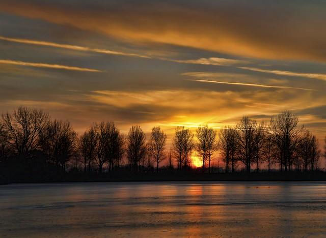 sunset in goudriaan
