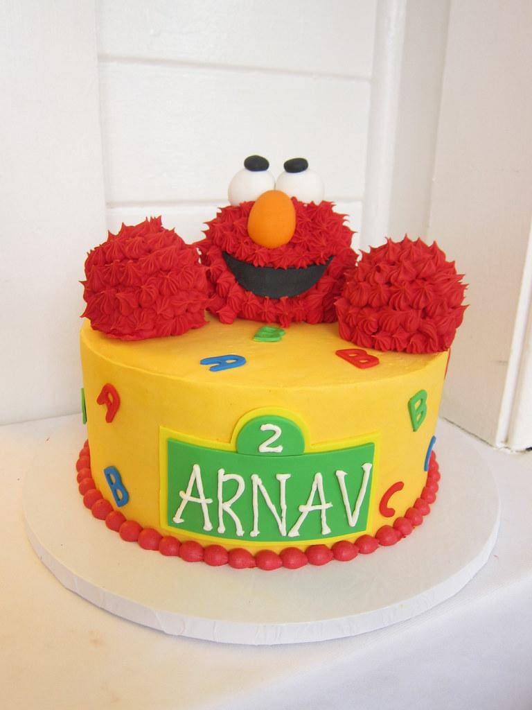Excellent Elmo Birthday Cake Polkadots Olga Flickr Personalised Birthday Cards Paralily Jamesorg