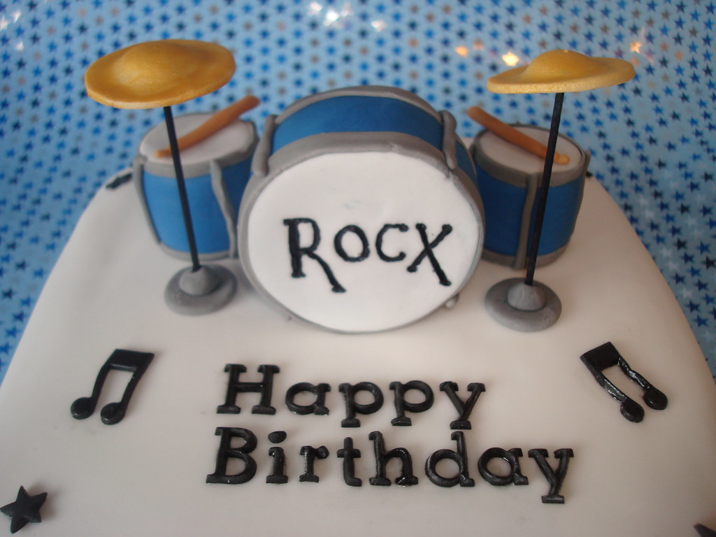 Fine Drum Set Cake Drum Set Cake For Rocx Not A Spelling Mis Flickr Funny Birthday Cards Online Bapapcheapnameinfo