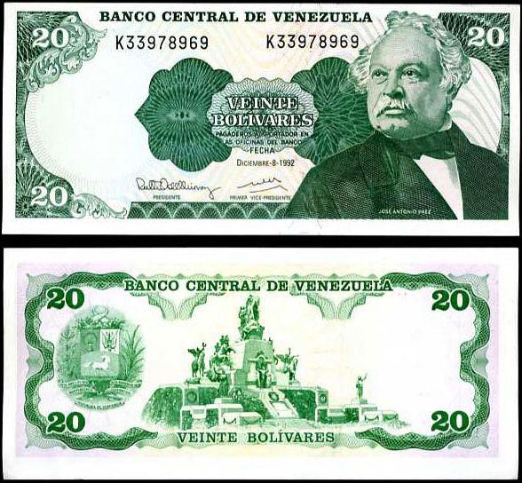 20 Bolivares Venezuela 1992, P63d
