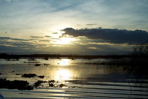 sunset lake reflection geotagged kenya naivasha
