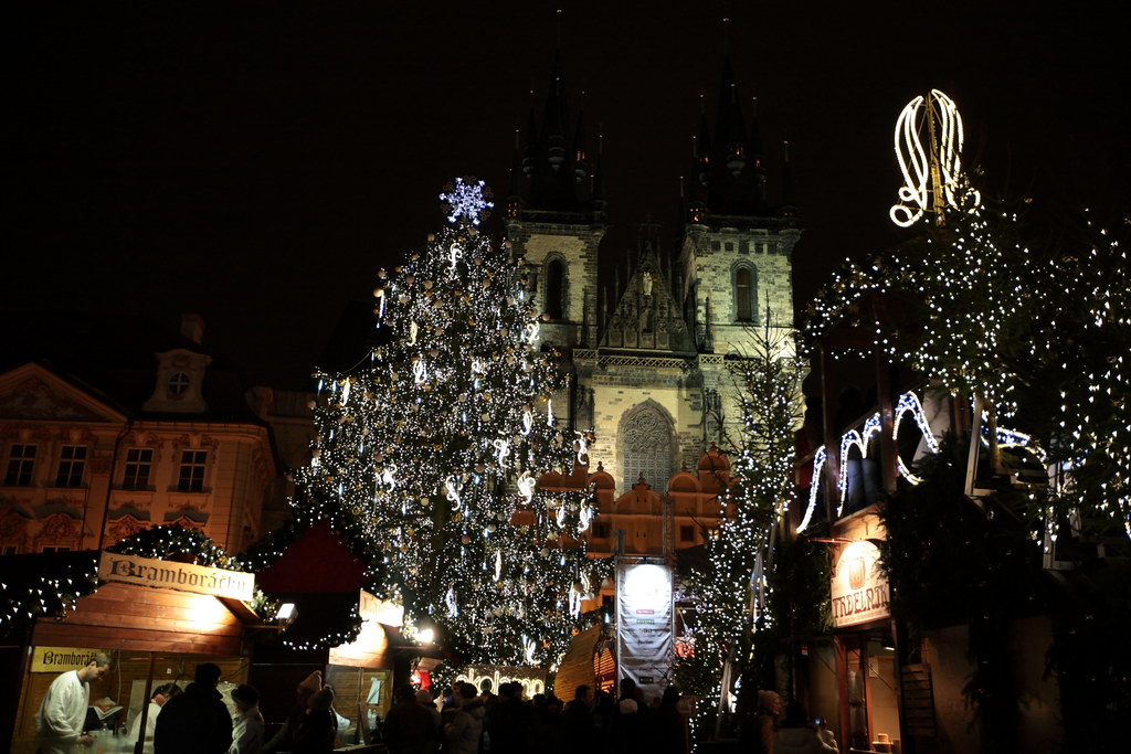 Night in Prague before Christmas