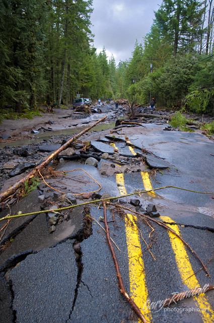 Lolo Pass Road Flood Damage