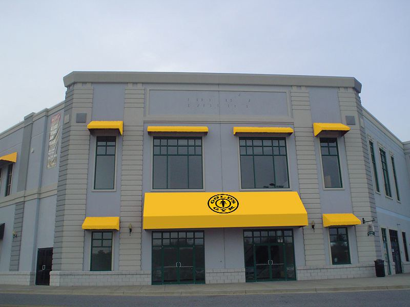 Gold's Gym Mall Awning Renderings