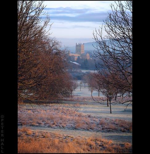 uk winter england cold sunrise dawn frost britain gloucestershire freeze tewkesbury tewkesburyabbey canong12