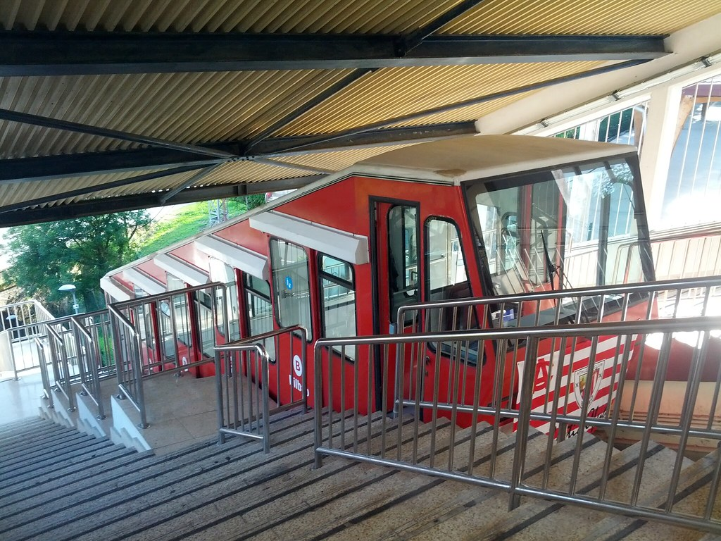Funicular in the upper station