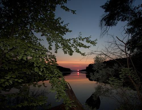 sunset crossriver