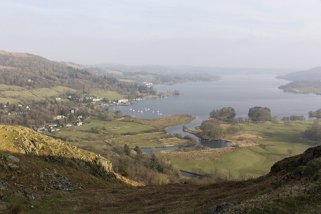 Waterhead (Ambleside), from Loughrigg Fell, Lake District National Park, Cumbria, UK
