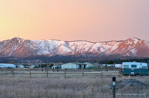 flagstaffarizona flagstaff arizona nofilter noedit mnicolephotography sunny sunrise winter windy sanfranciscopeaks