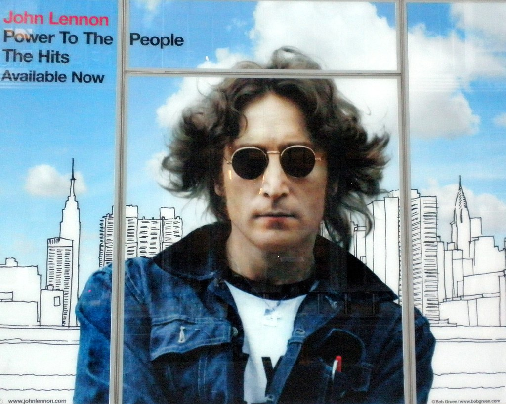 John Lennon Power To The People Billboard Midtown New Yo Flickr