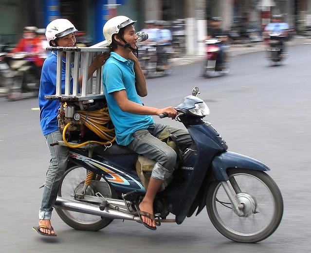 Challenging motorbike ride