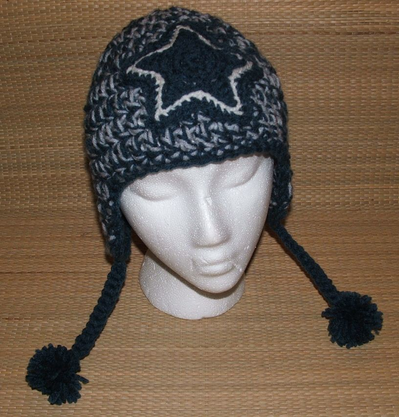 Dallas Cowboys Earflap Hat Visit My Online Shop Crochet Pirate