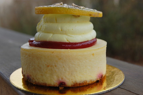 Vegan Treats Lemon Raspberry Cheesecake