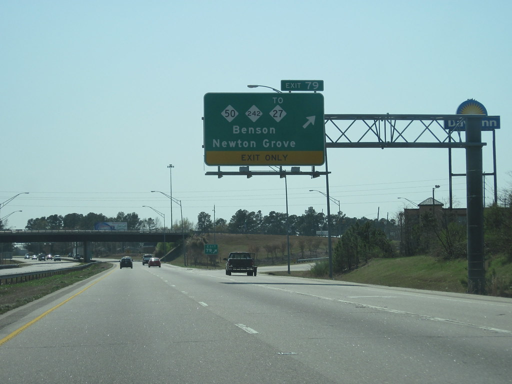 I-95 southbound at exit 79-Benson, NC | I-95 southbound at e