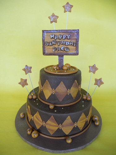 Masculine Birthday Cake | by CakesUniqueByAmy.com