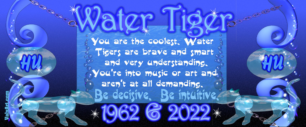 ValxArt's 1962 2022 chinese zodiac Water Tiger Cup for peo