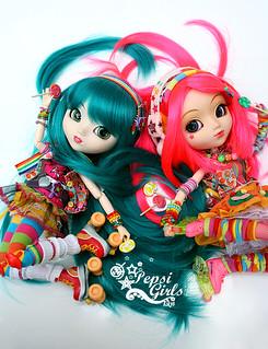 [Pullip Papin & Haute NY] Miyu etToshiko - Rainbow Addict   by Kikyô