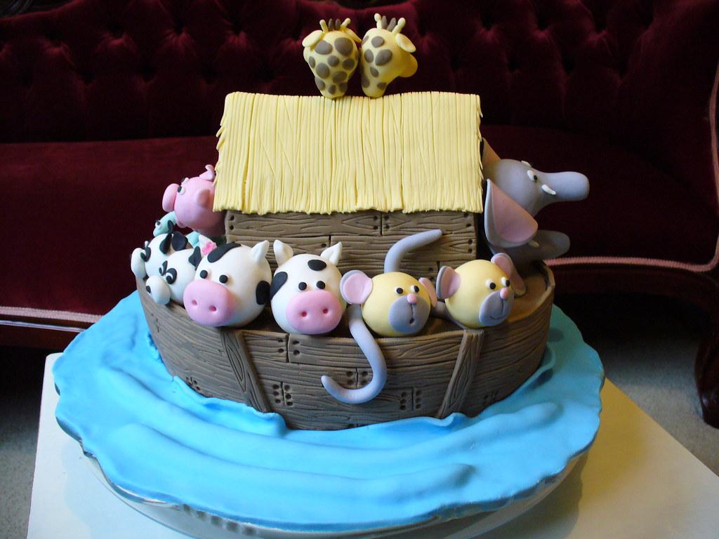 Magnificent Noahs Ark Cake Sams Birthday Leslea Matsis Flickr Funny Birthday Cards Online Alyptdamsfinfo