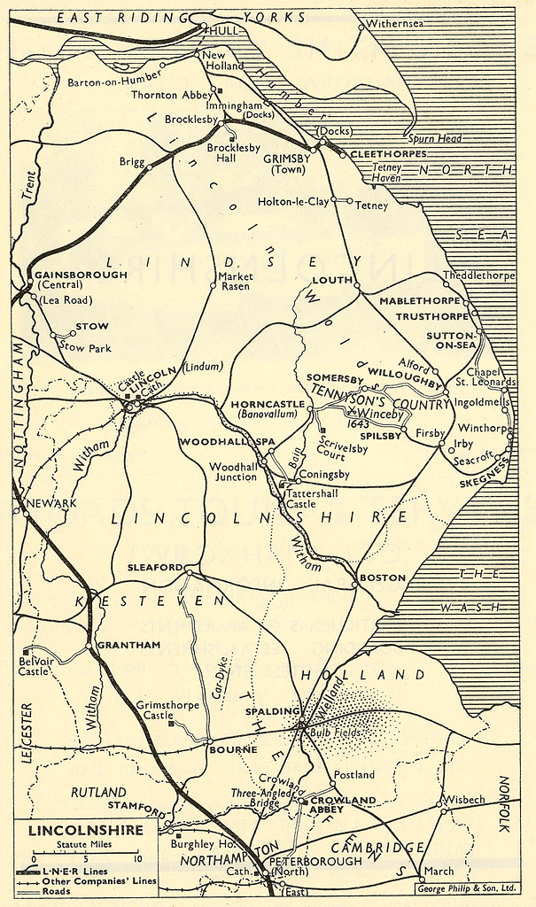 Map Of North London.London North Eastern Railway Railway Map Of Lincolnshi Flickr