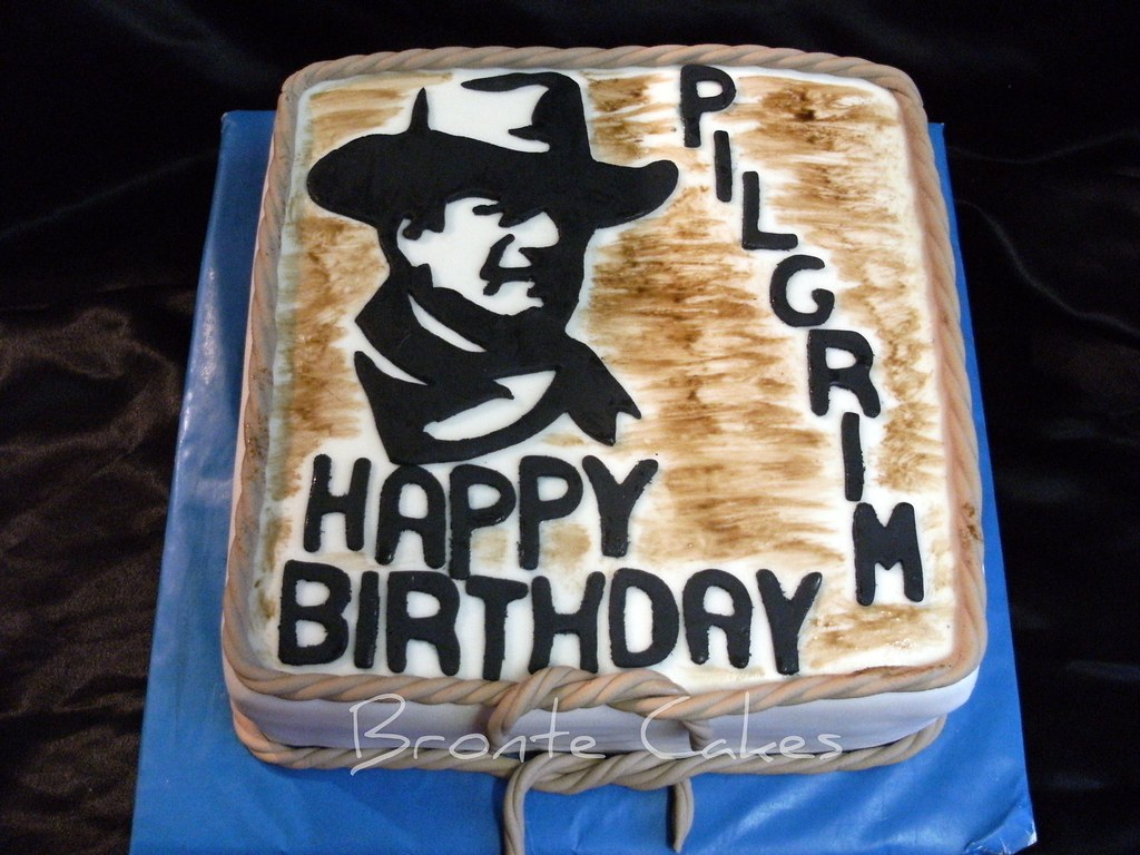 Fabulous John Wayne I Made This Cake For My Dad For His Birthday H Flickr Personalised Birthday Cards Sponlily Jamesorg