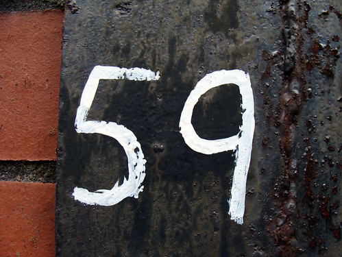 No 59 - white on metal | by kirstyhall