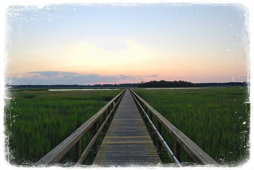 sunset sky sc grass creek river island dock nikon southcarolina coastal carolina boardwalk marsh beaufort lowcountry d60 portroyal sainthelena frogmore seaislands tansi portroyalisland