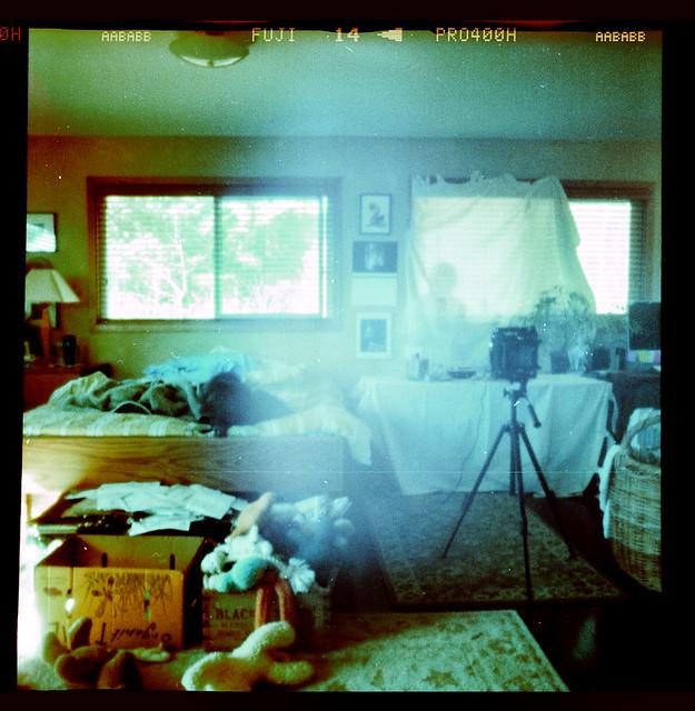 in the bedroom...