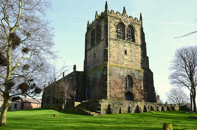 Behind Ormskirk Parish Church Lancashire