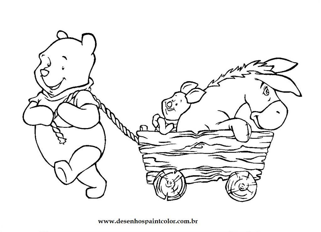 Desenho Do Ursinho Pooh E Sua Turma Para Imprimir E Colori Flickr