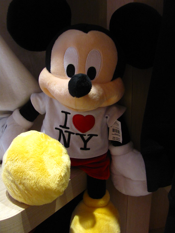 "Mickey ""I HEART NY"" Plush at the Disney Store Time Square"