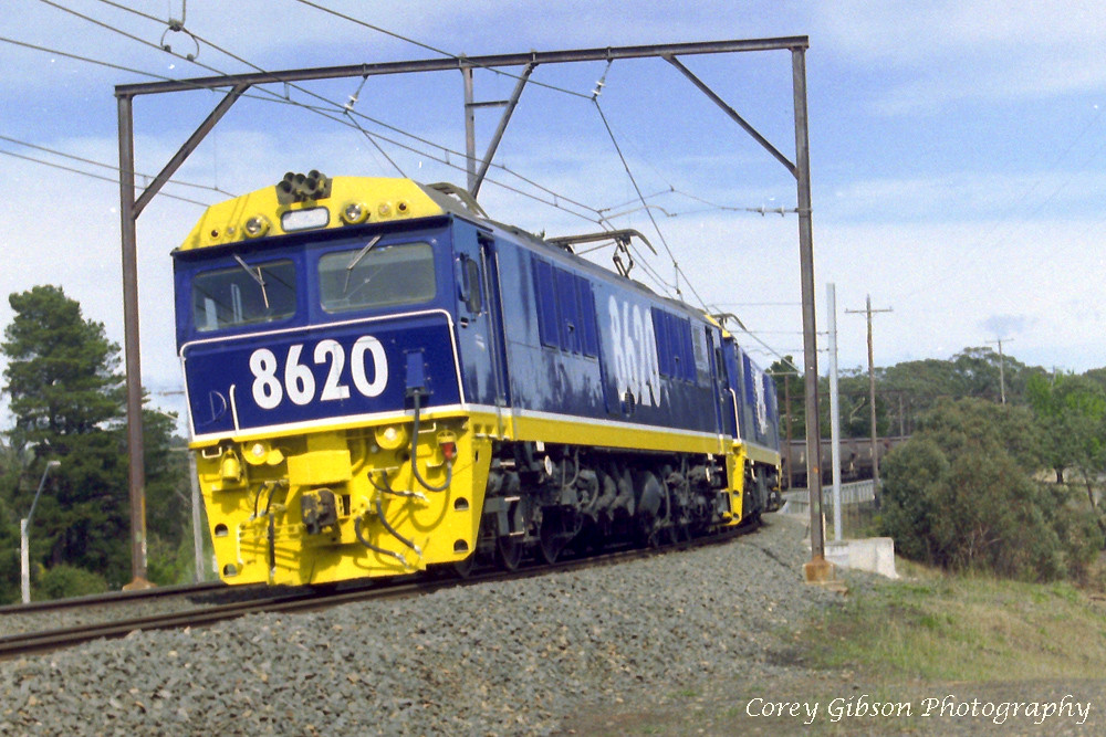 Electric 8620 coal train in the Blue Mountains by Corey Gibson