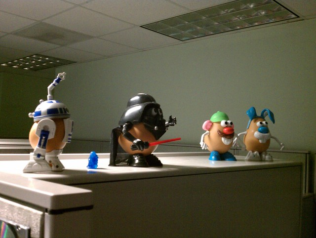 Mr. Potato Head! More geek toys at the Charleston office. #newsfromthecube #geek