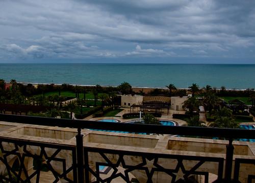 blue sea sky water clouds turkey hotel nikon asia mediterranean balcony türkiye antalya nikkor vr afs 尼康 kadriye thedome belek 18200mm 土耳其 亚洲 f3556g d40 ニコン 18200mmf3556g kempinkski 安塔利亚