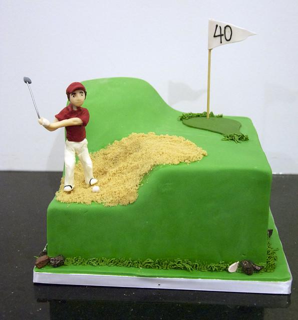 BC4170 - golfing birthday cake