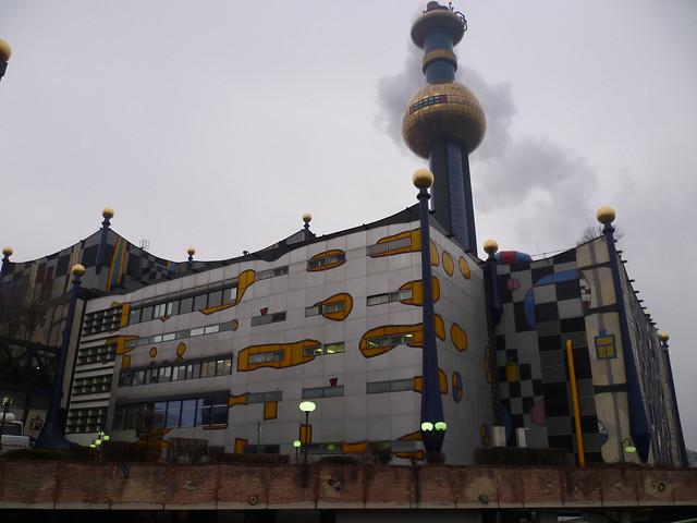 Wien, 9. Bezirk, Müllverbrennungsanlage (Hundertwasser), inceneritore, incineración, incinération, incineration, Spalarnia śmieci (Spittelau)