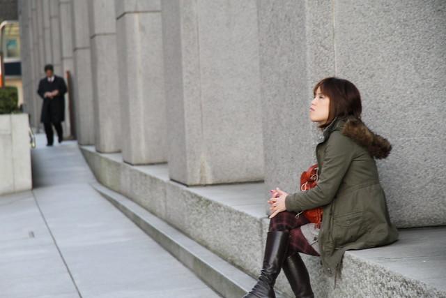 Waiting, Marunouchi, Tokyo