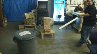 air cannon vs trashcan