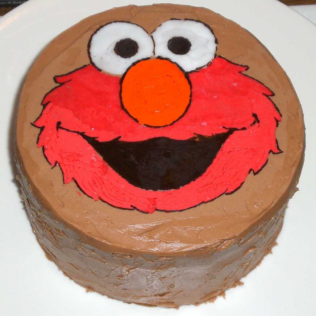 Brilliant Elmo Birthday Cake My Very First Character Cake F A Flickr Personalised Birthday Cards Paralily Jamesorg