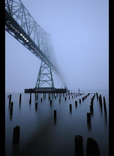 bridge mist water fog oregon river dawn coast pier columbia pylon astoria pilings truss tomschwabel astoriamegler