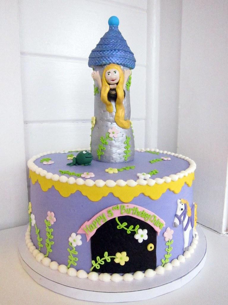 Wondrous Rapunzel Birthday Cake Polkadots Olga Flickr Birthday Cards Printable Inklcafe Filternl