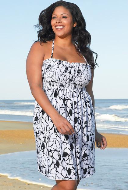 Sassy & Classic Fiji Plus Size Smock Dress by Beach Belle ...