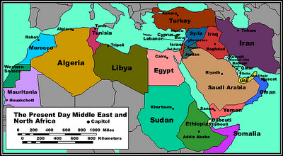 Political Map of the Middle East and North Africa | Map of M… | Flickr