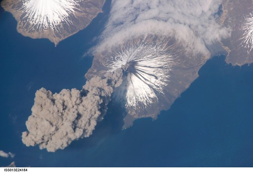 Cleveland Volcano, Aleutian Islands, Alaska (NASA, International Space Station, 05/23/06) | by NASA's Marshall Space Flight Center
