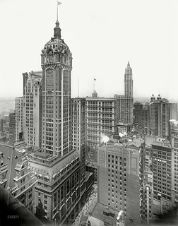 Singer Building ca. 1913 | by syscosteve