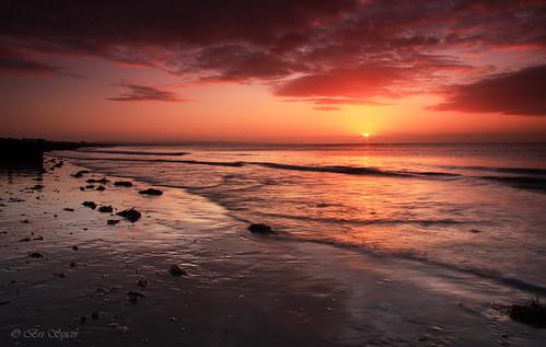 sun beach sunrise sussex sand weed lowtide caonon40d