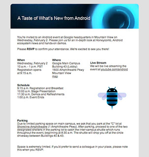 Android Event 2/2/11 Invite | by dsandler
